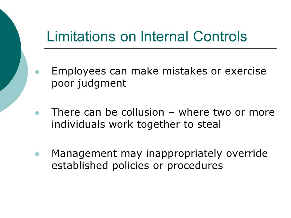 Limitations on Internal Controls