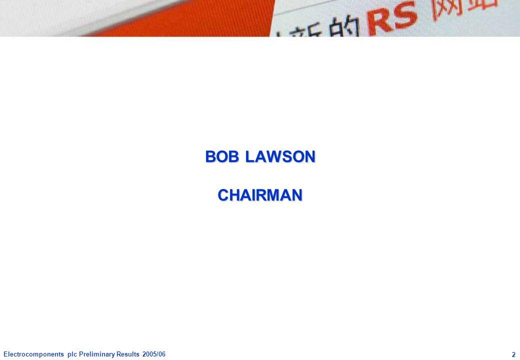 BOB LAWSON CHAIRMAN