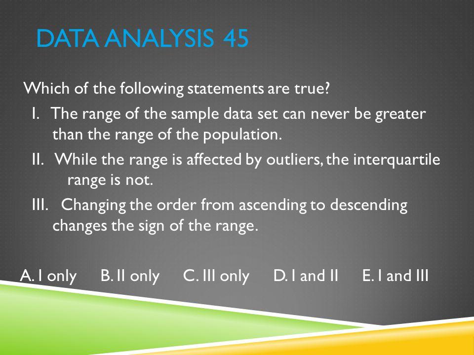 Data Analysis 45