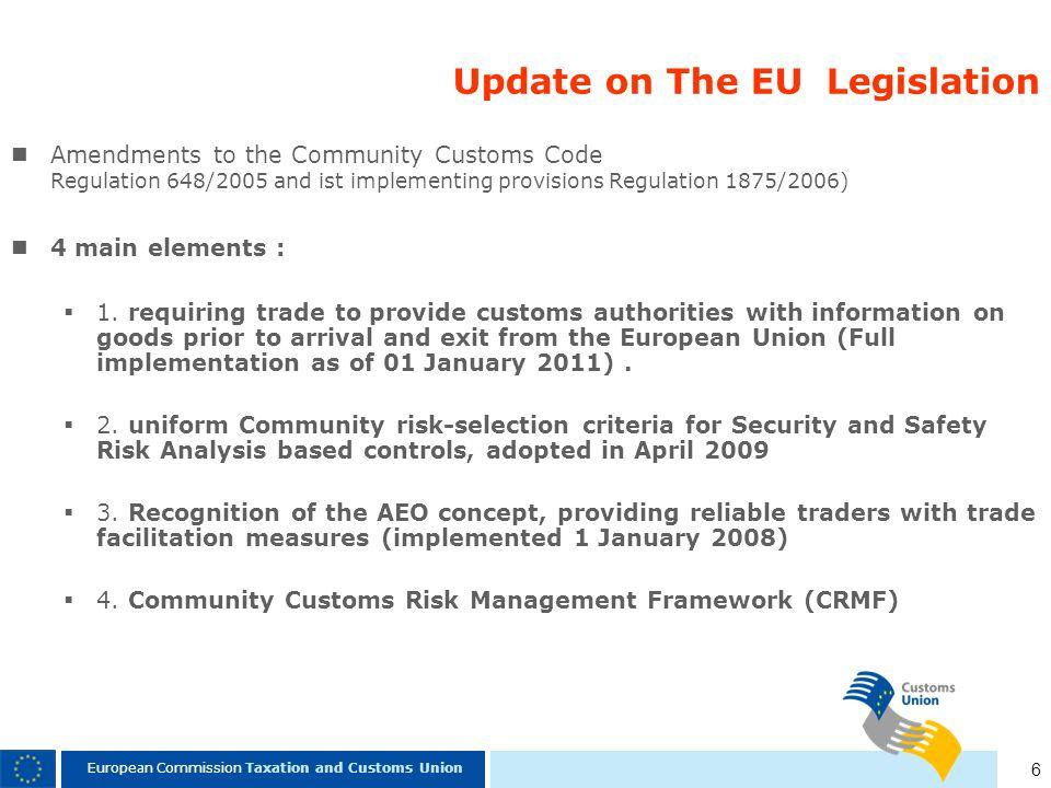 Update on The EU Legislation