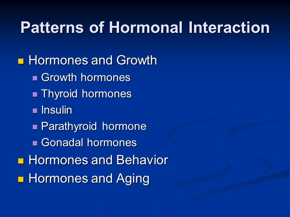 Patterns of Hormonal Interaction