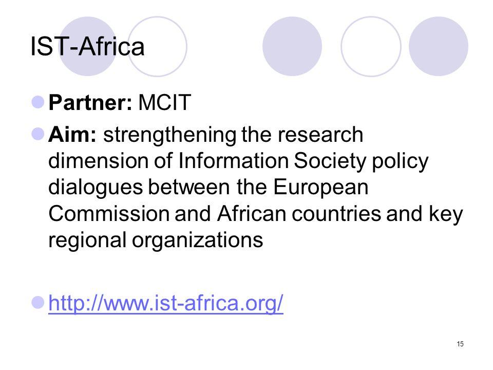IST-Africa Partner: MCIT