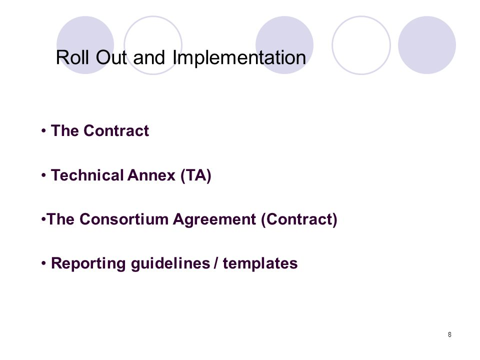 Roll Out and Implementation