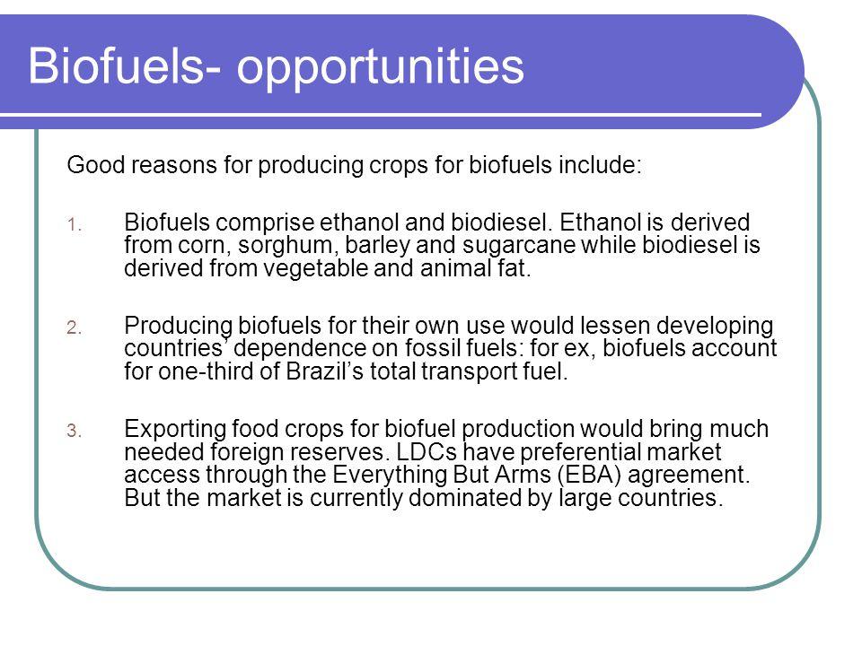 Biofuels- opportunities