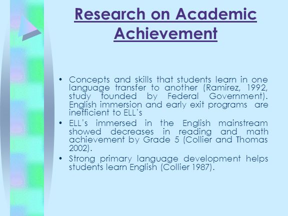 Research on Academic Achievement