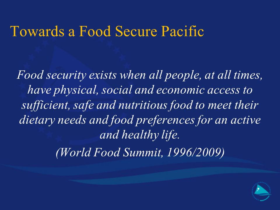Towards a Food Secure Pacific