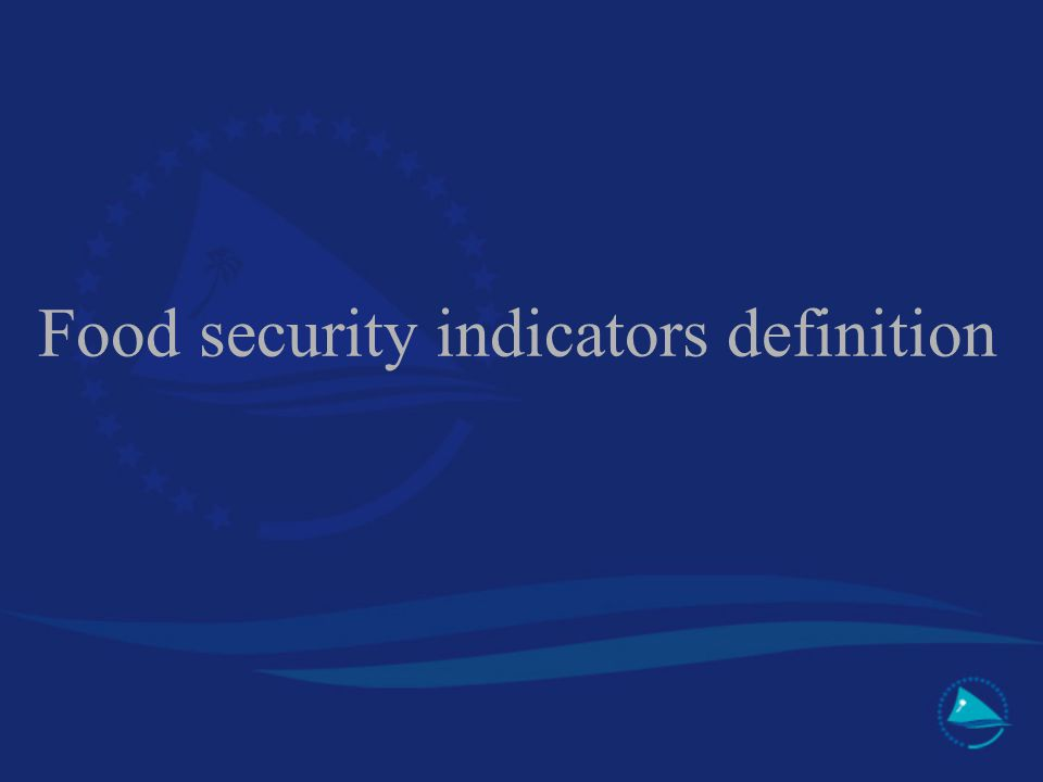 Food security indicators definition