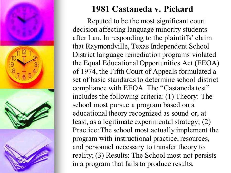 1981 Castaneda v. Pickard