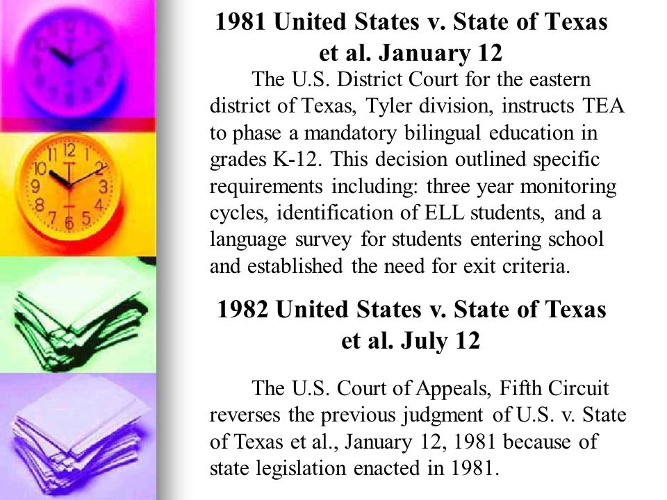 1981 United States v. State of Texas et al. January 12