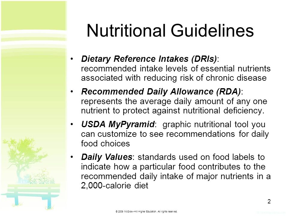 Nutritional Guidelines