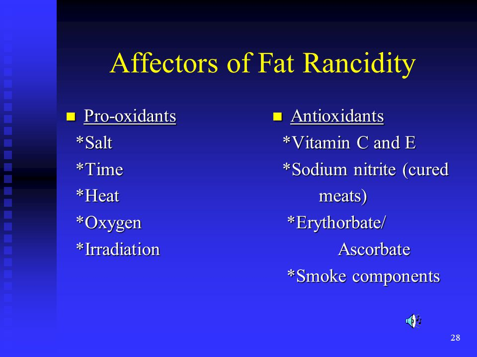 Affectors of Fat Rancidity