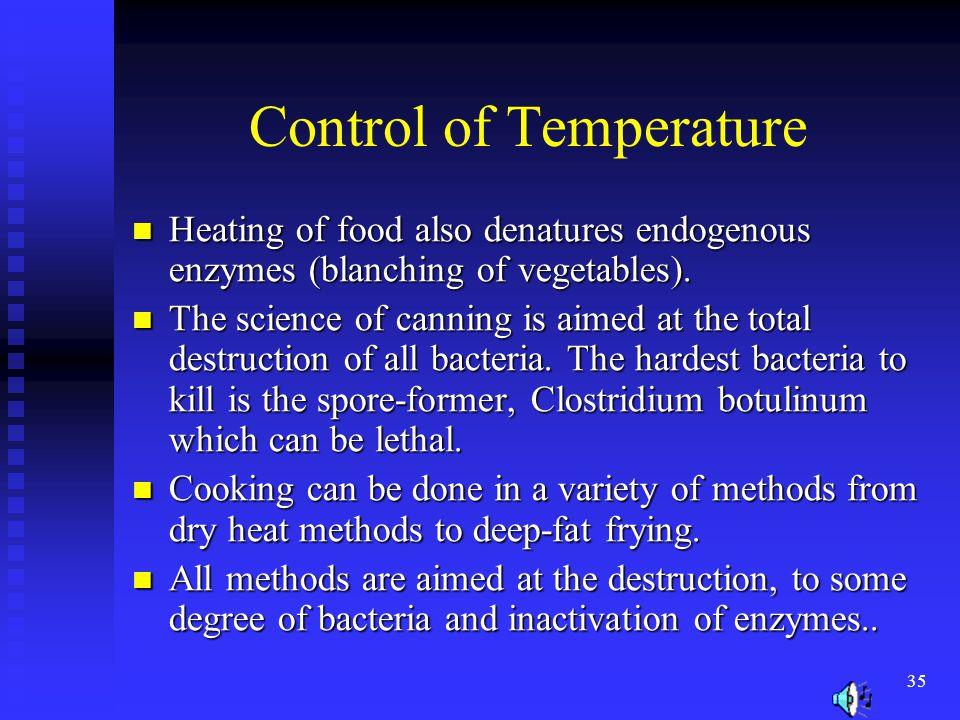 Control of Temperature