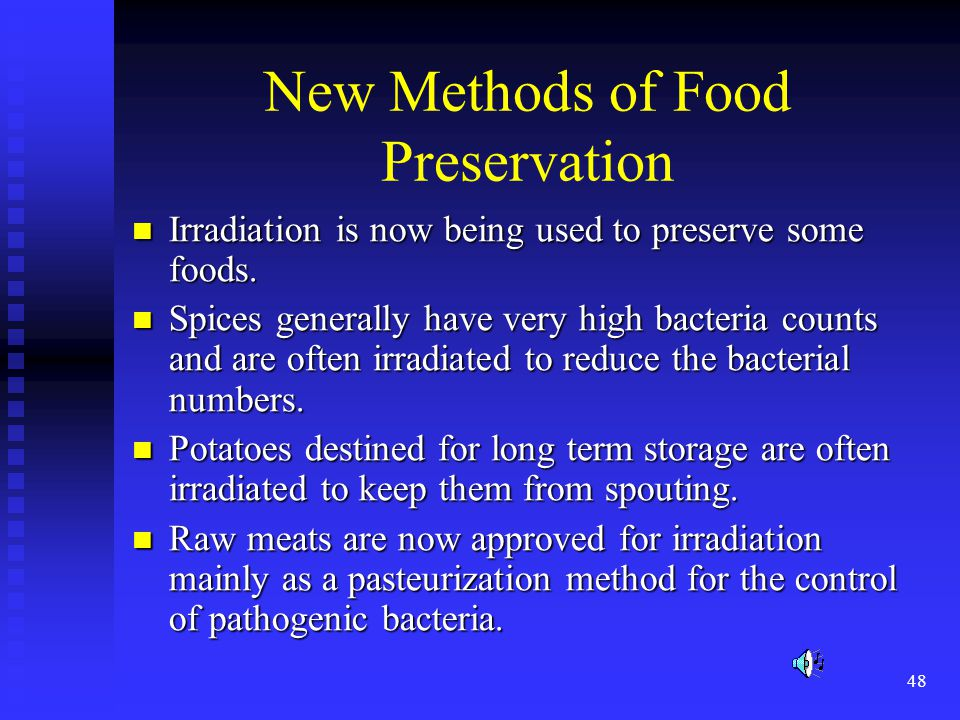 New Methods of Food Preservation