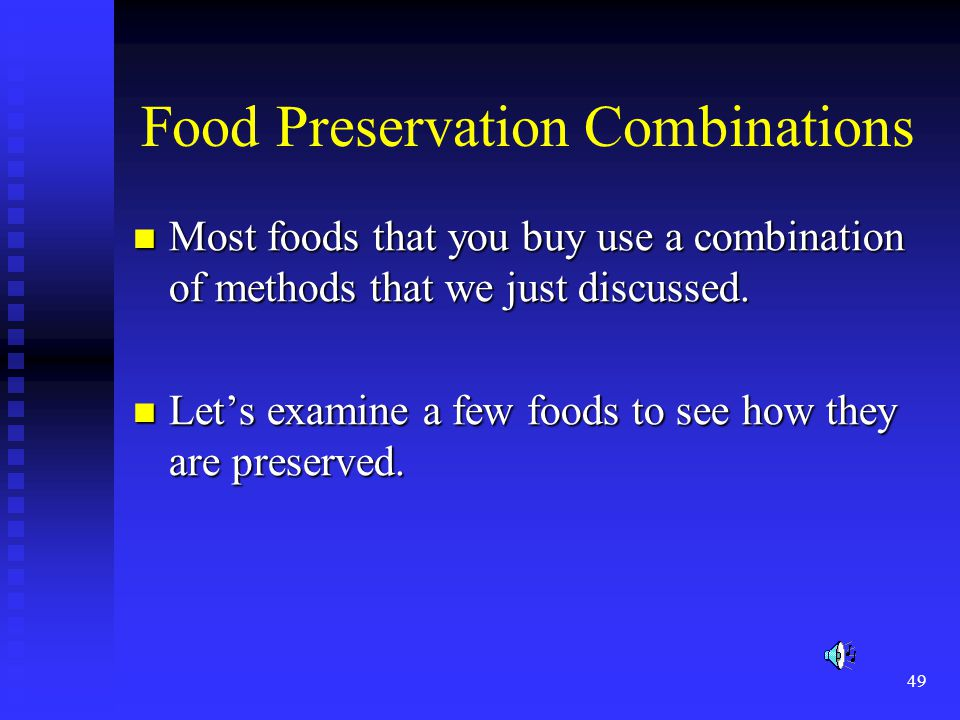 Food Preservation Combinations