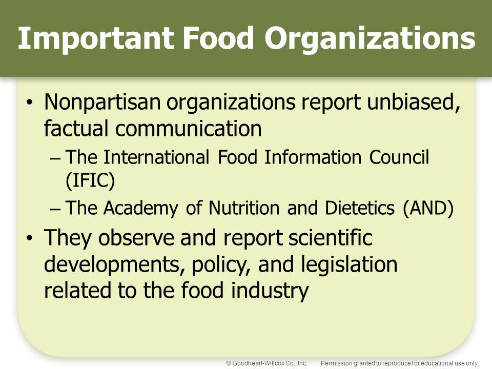 Important Food Organizations