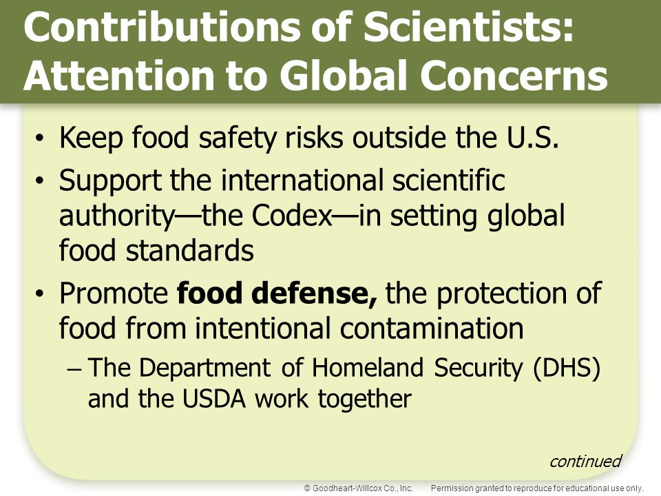Contributions of Scientists: Attention to Global Concerns