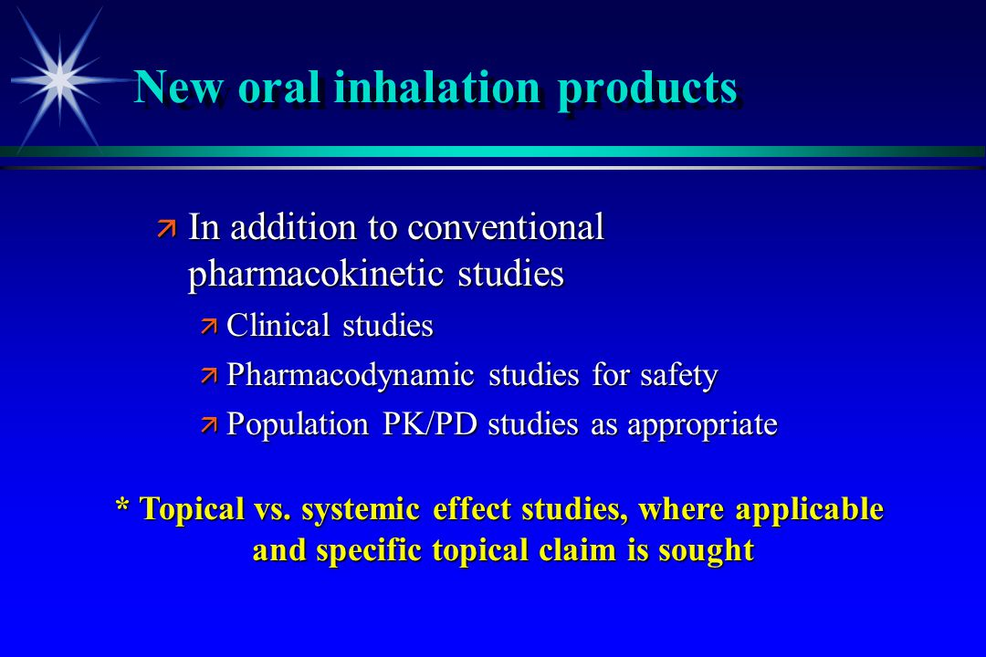New oral inhalation products