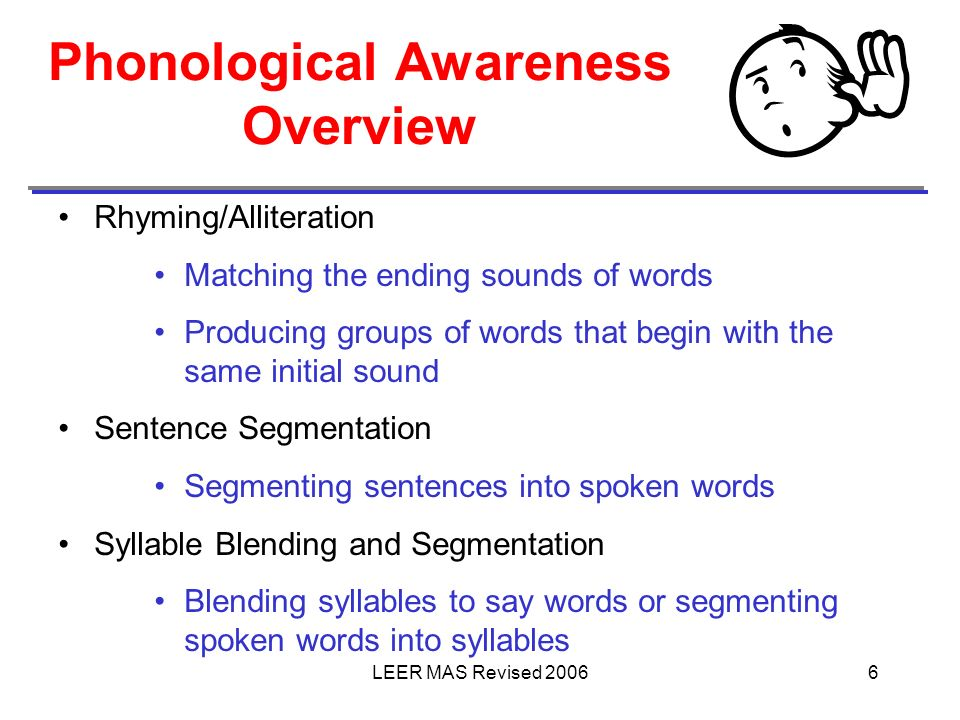 Phonological Awareness Overview
