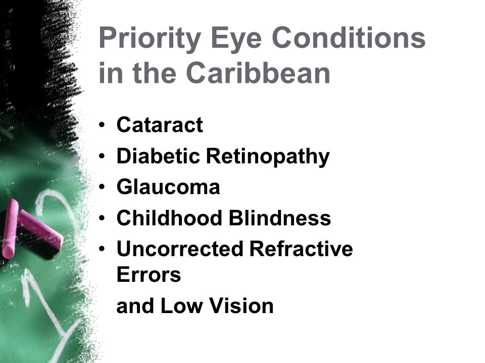 Priority Eye Conditions in the Caribbean