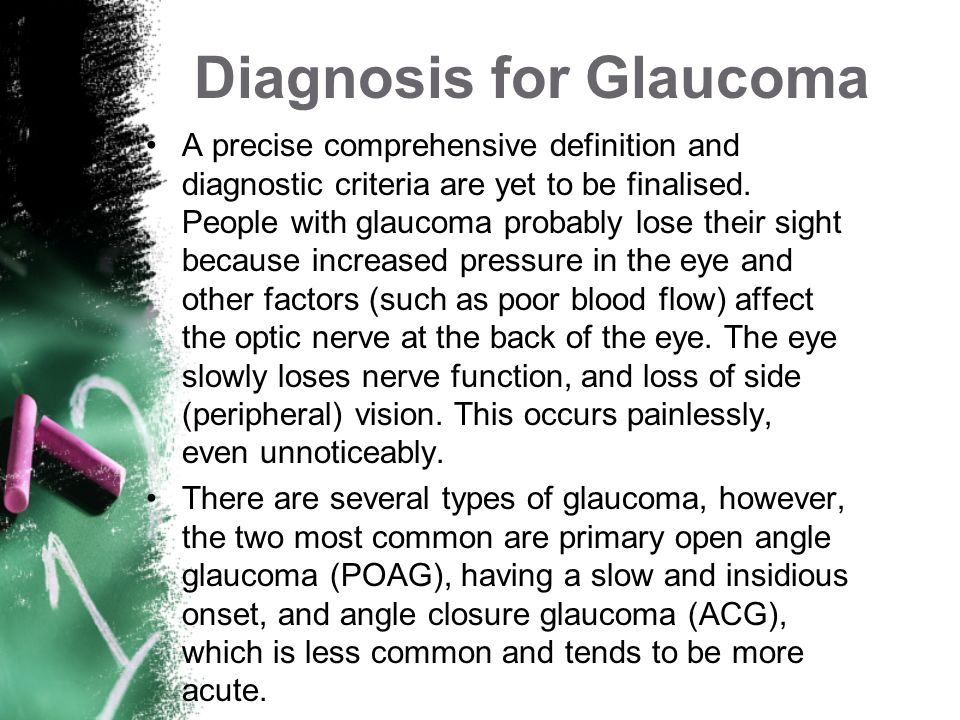 Diagnosis for Glaucoma