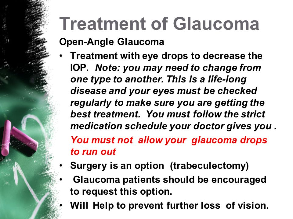 Treatment of Glaucoma Open-Angle Glaucoma