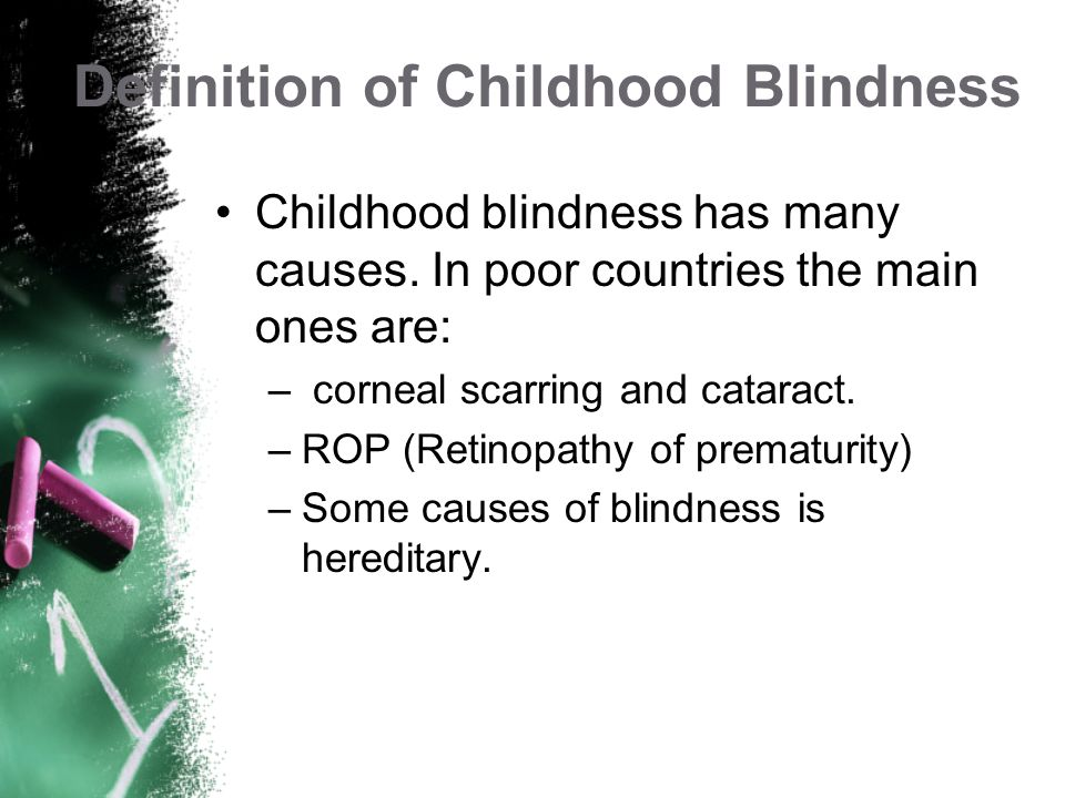 Definition of Childhood Blindness