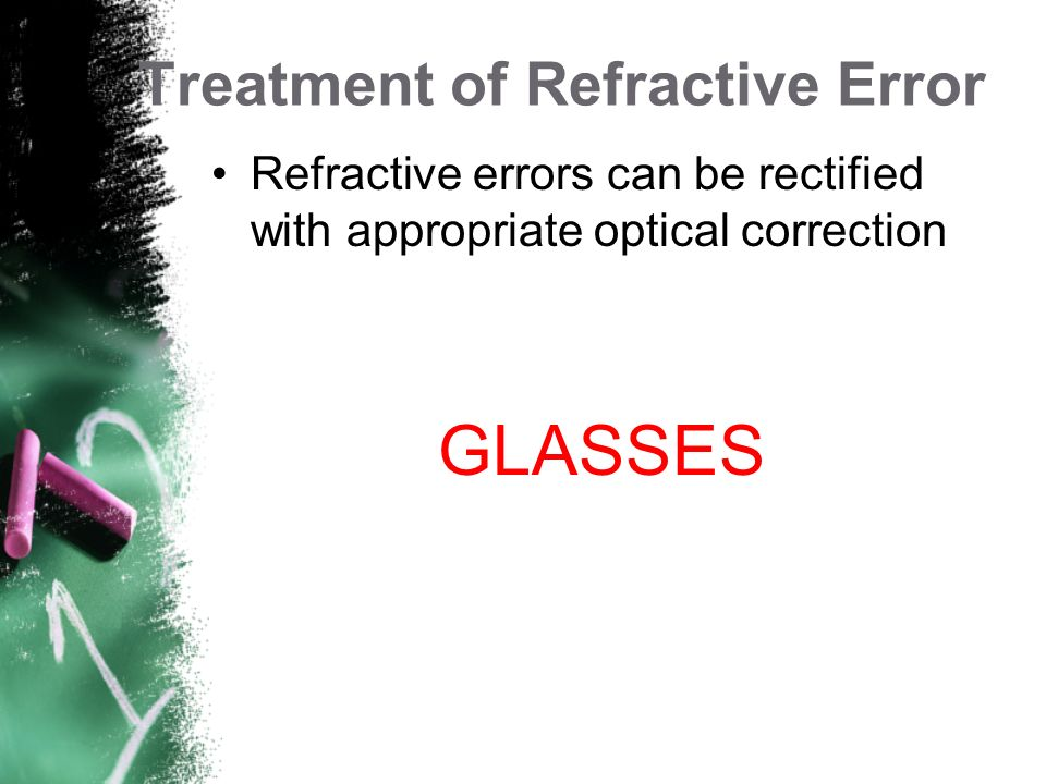 Treatment of Refractive Error