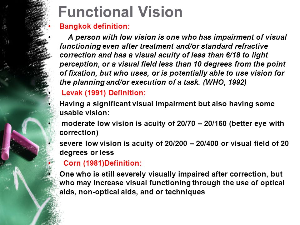 Functional Vision Bangkok definition: