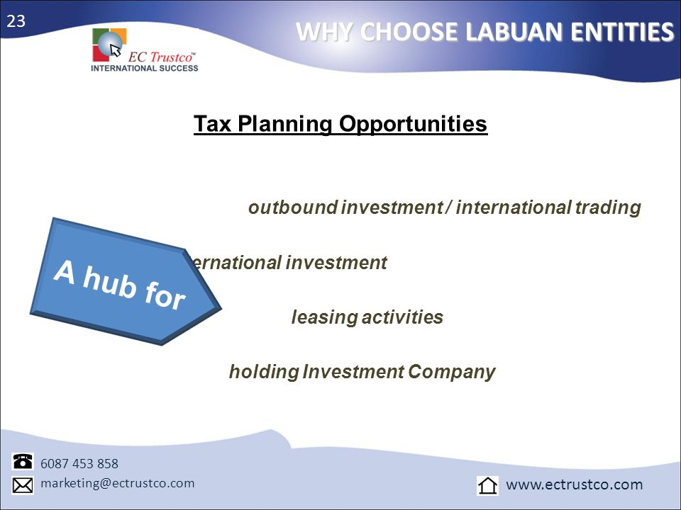Tax Planning Opportunities holding Investment Company