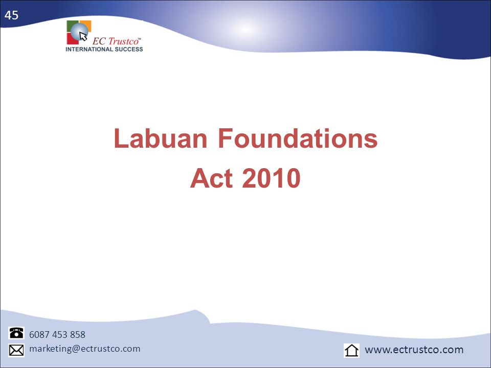 Labuan Foundations Act 2010