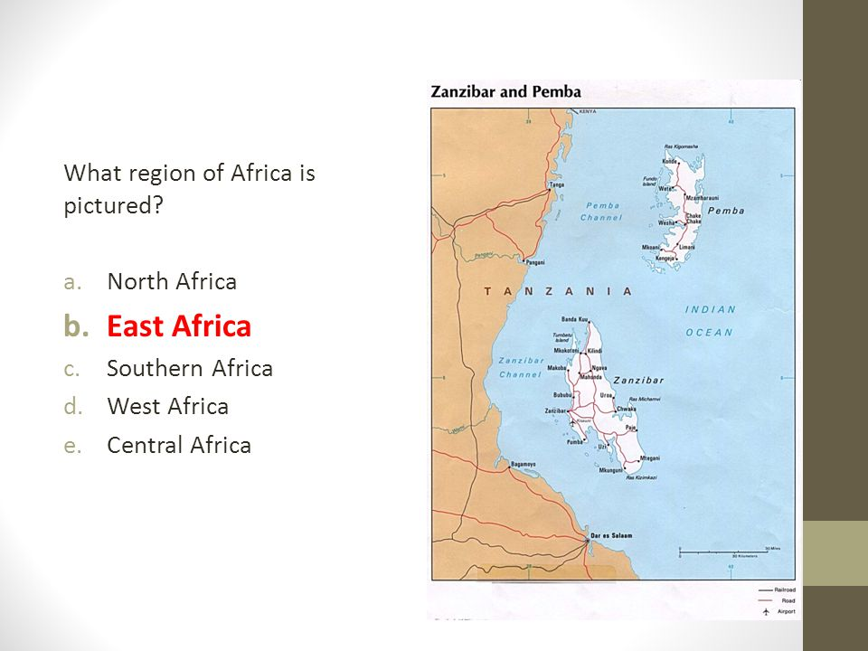East Africa What region of Africa is pictured North Africa
