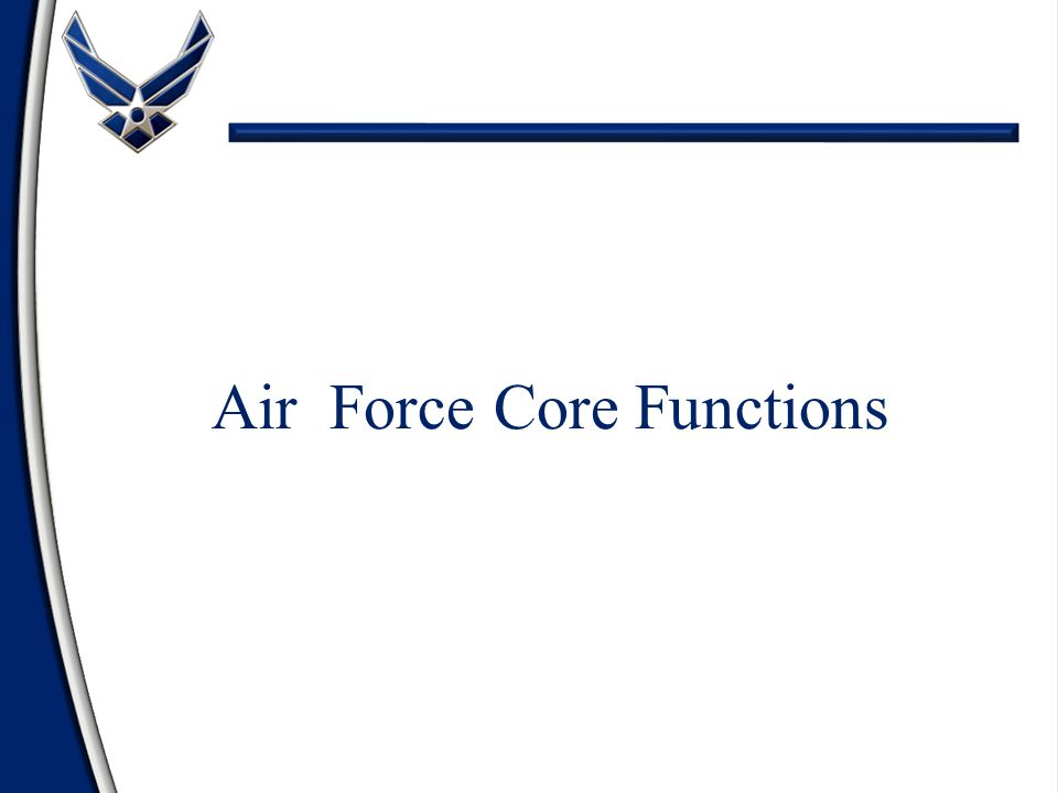 Air Force Core Functions