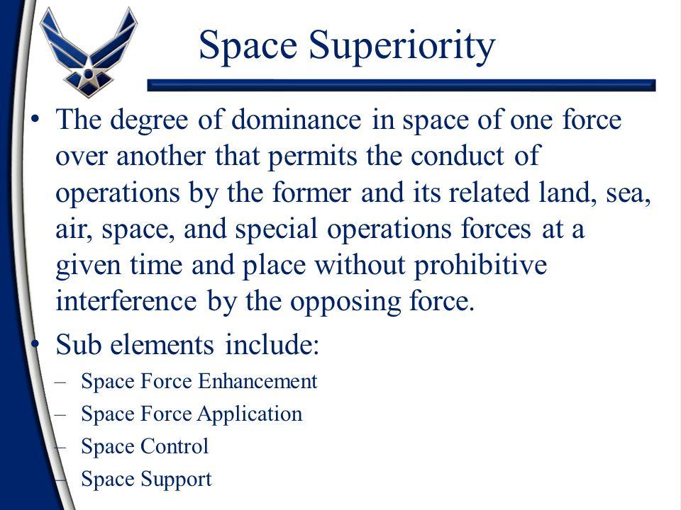 Space Superiority
