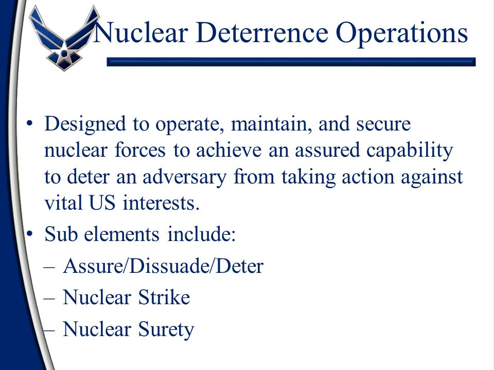 Nuclear Deterrence Operations