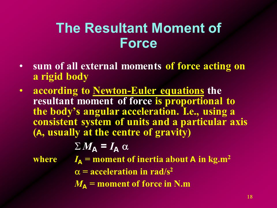 The Resultant Moment of Force