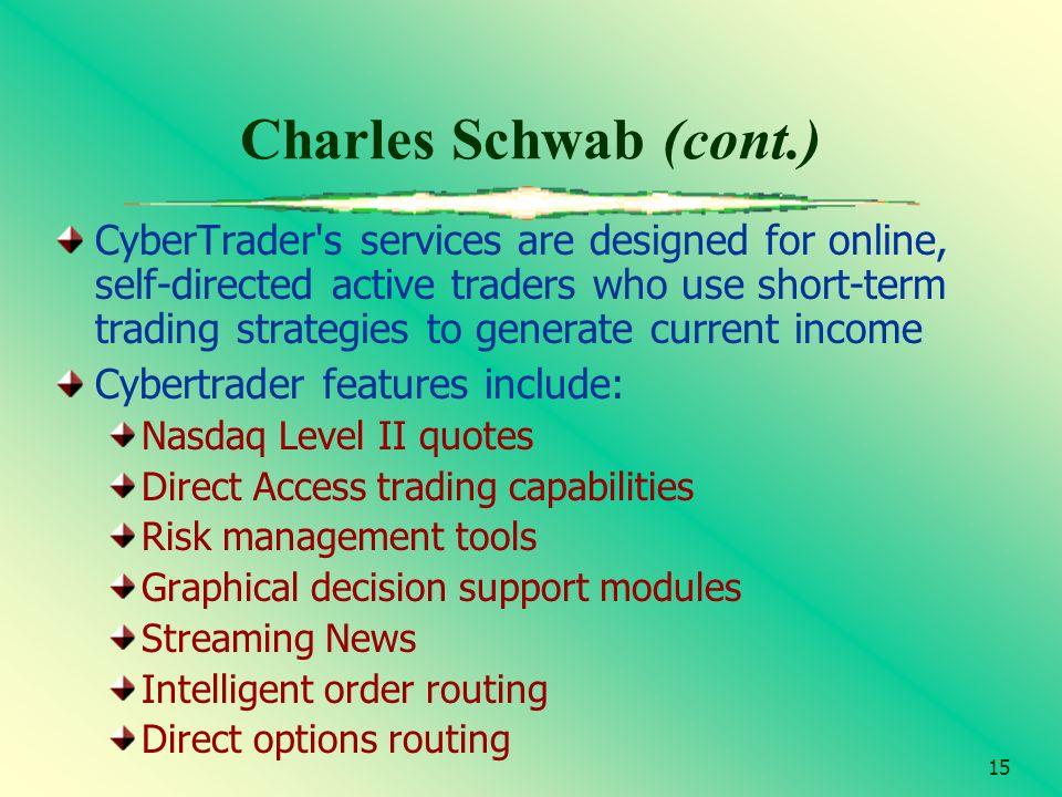 Charles Schwab (cont.)