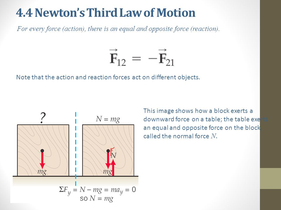 4.4 Newton's Third Law of Motion