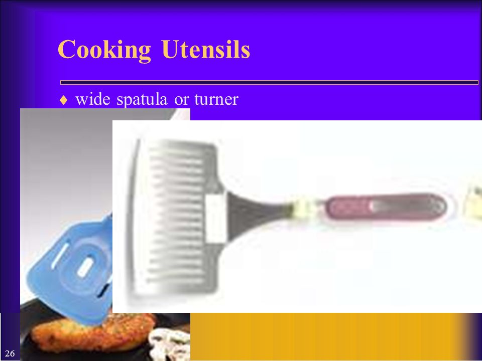 Cooking Utensils wide spatula or turner