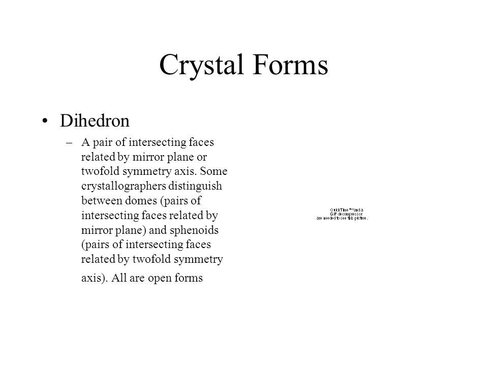 Crystal Forms Dihedron