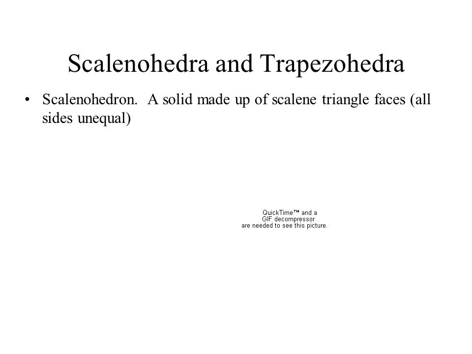 Scalenohedra and Trapezohedra