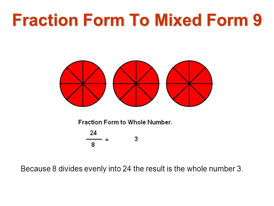Fraction Form To Mixed Form 9