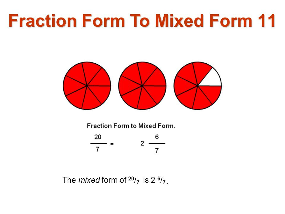 Fraction Form To Mixed Form 11