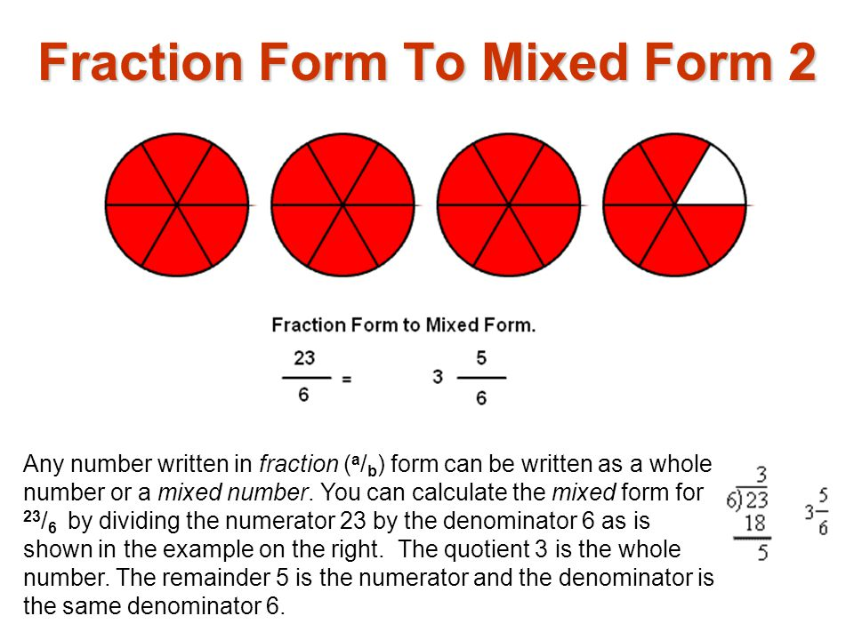 Fraction Form To Mixed Form 2