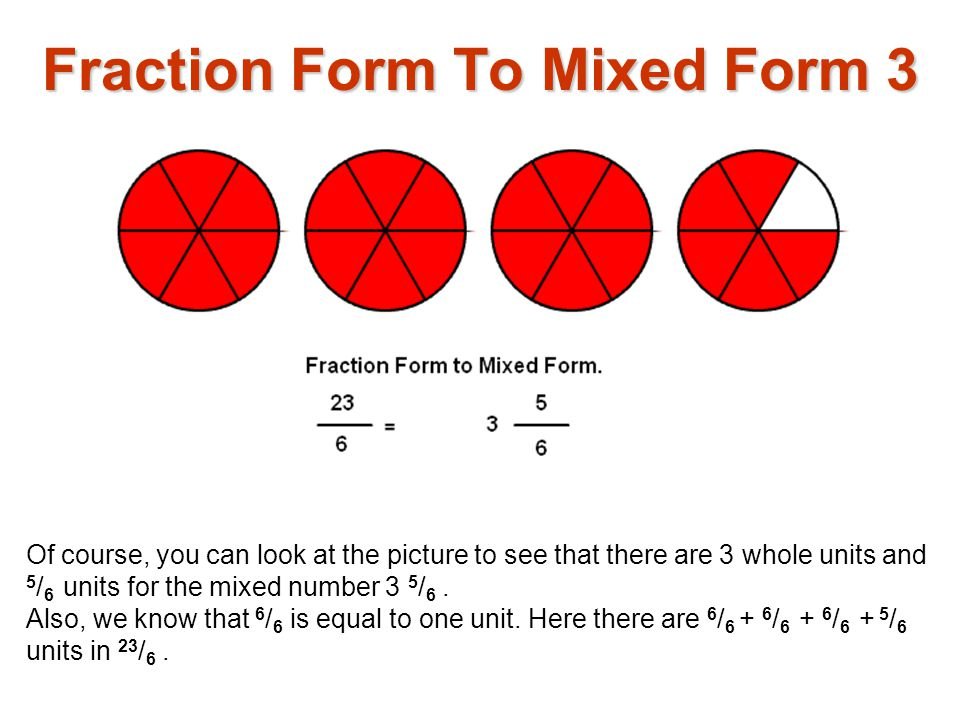 Fraction Form To Mixed Form 3