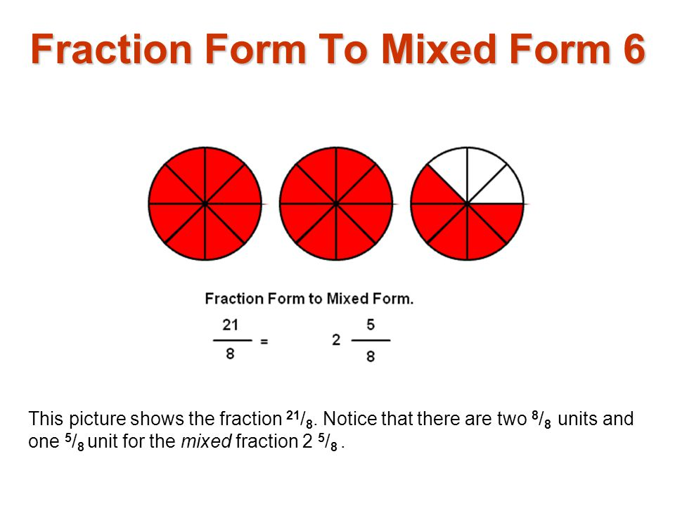 Fraction Form To Mixed Form 6