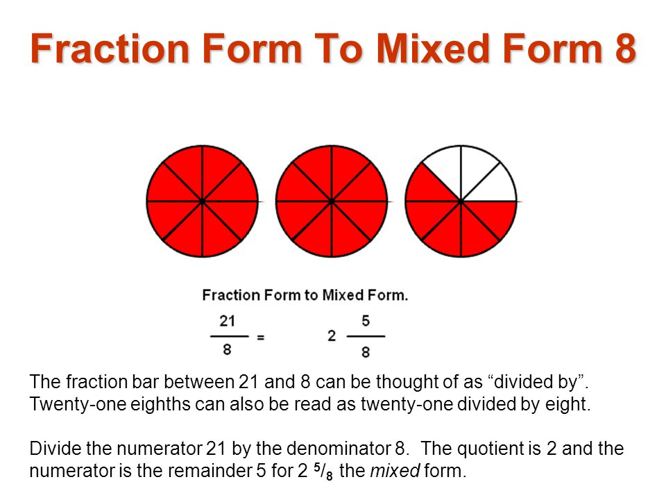 Fraction Form To Mixed Form 8