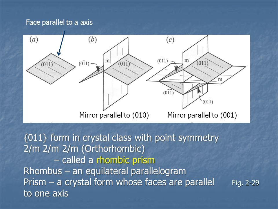 – called a rhombic prism Rhombus – an equilateral parallelogram