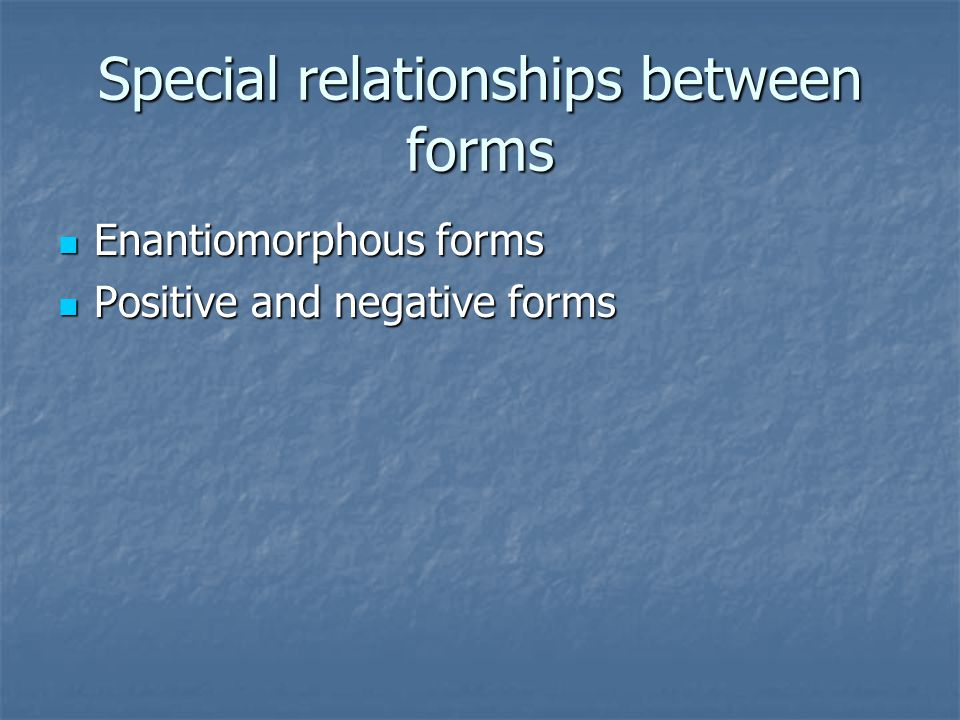 Special relationships between forms