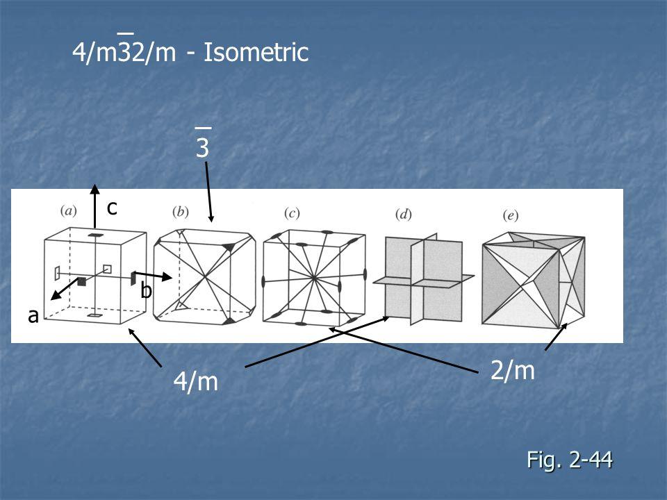 4/m32/m - Isometric 3 c b a 2/m 4/m Fig. 2-44