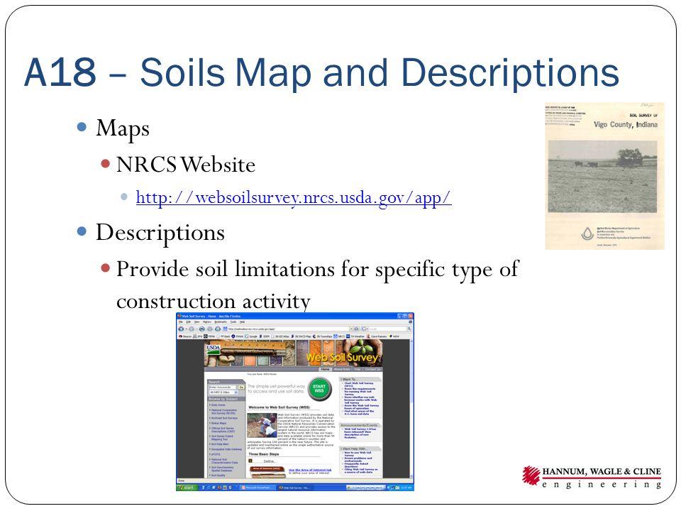 A18 – Soils Map and Descriptions